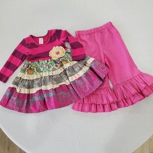 GIGGLE MOON 2 piece outfit tiered dress & pants